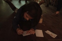Young artist at work